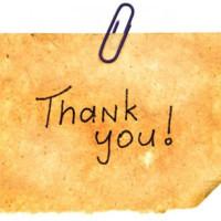 Правильная страница благодарности